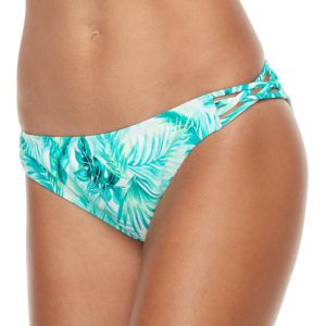 Mix-and-Match Palm Criss-Cross Scoop Bikini Bottoms