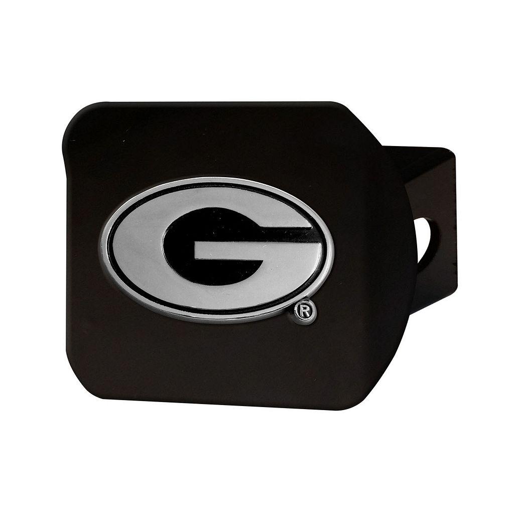 FANMATS Georgia Bulldogs Black Trailer Hitch Cover