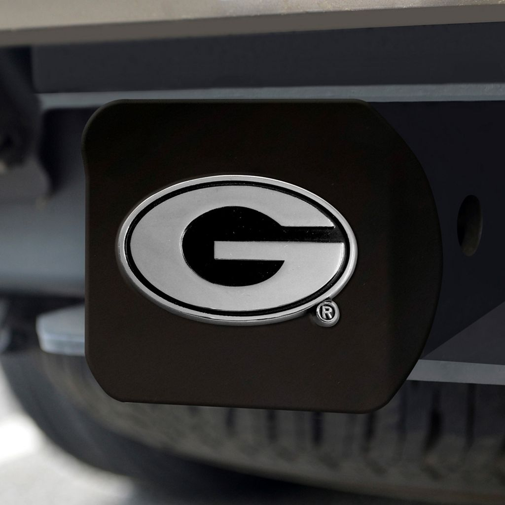 FANMATS Georgia Bulldogs Black Trailer Hitch Cover