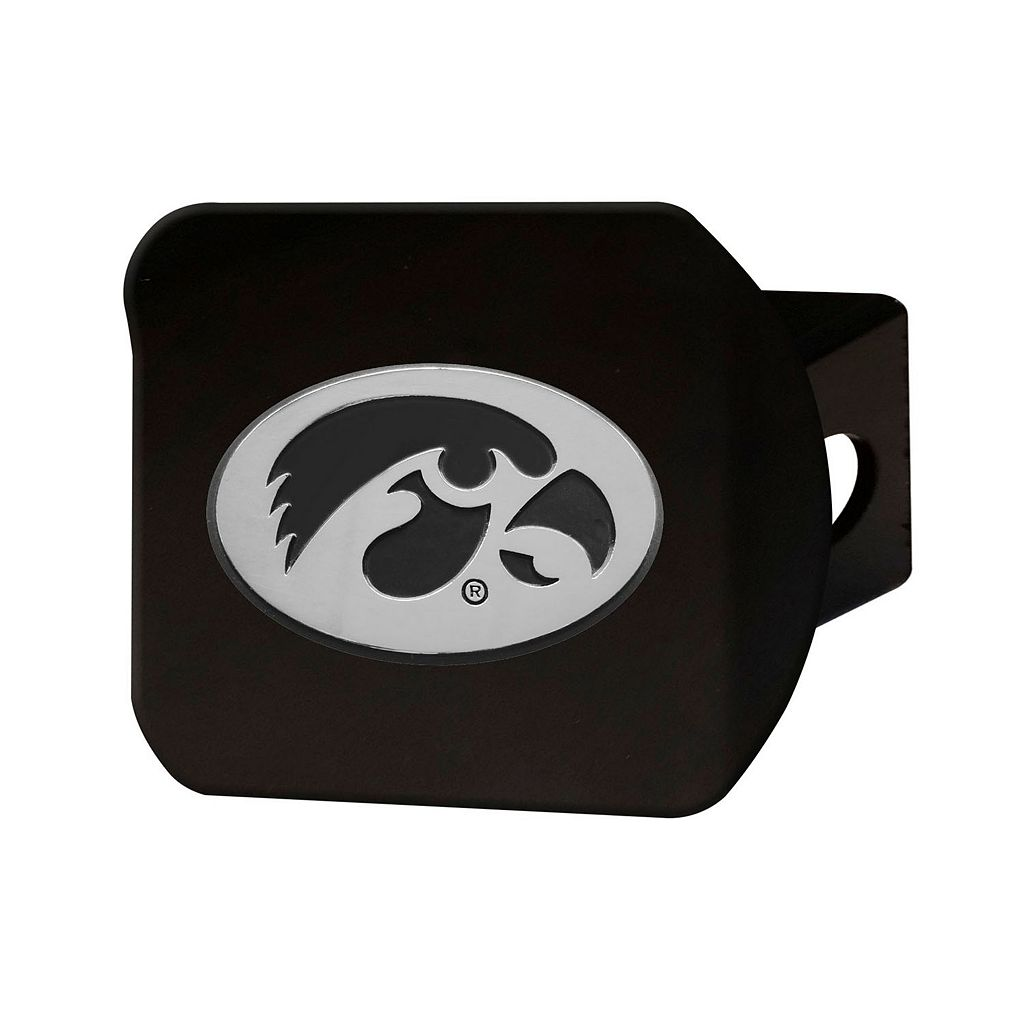 FANMATS Iowa Hawkeyes Black Trailer Hitch Cover