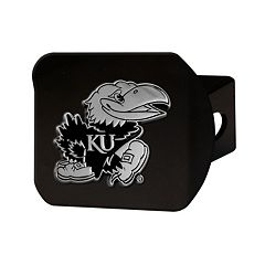 FANMATS Kansas Jayhawks Black Trailer Hitch Cover