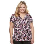Plus Size Dana Buchman Textured Crepe Top
