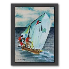 Americanflat Sailing Down Framed Wall Art