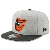 Adult New Era Baltimore Orioles 9FIFTY Heather Action Snapback Cap
