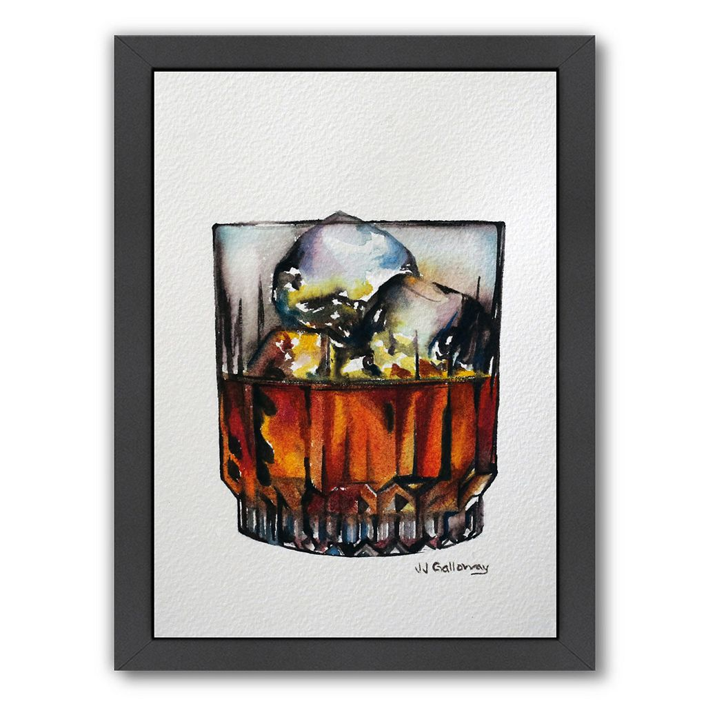 Americanflat Scotch On The Rocks Framed Wall Art