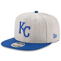Adult New Era Kansas City Royals 9FIFTY Heather Action Snapback Cap