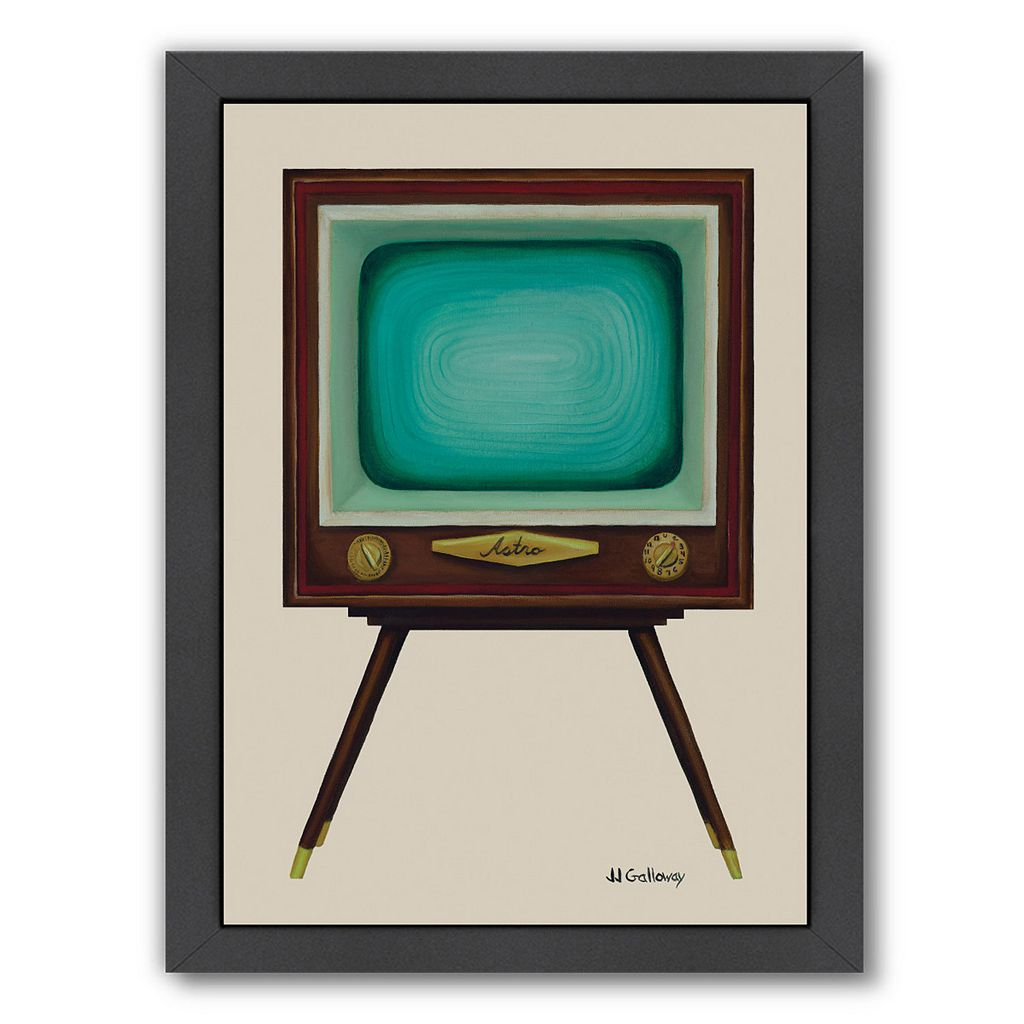 Americanflat TV Set Framed Wall Art