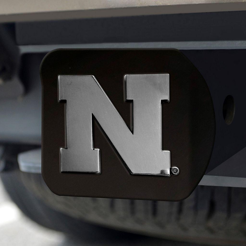 FANMATS Nebraska Cornhuskers Black Trailer Hitch Cover