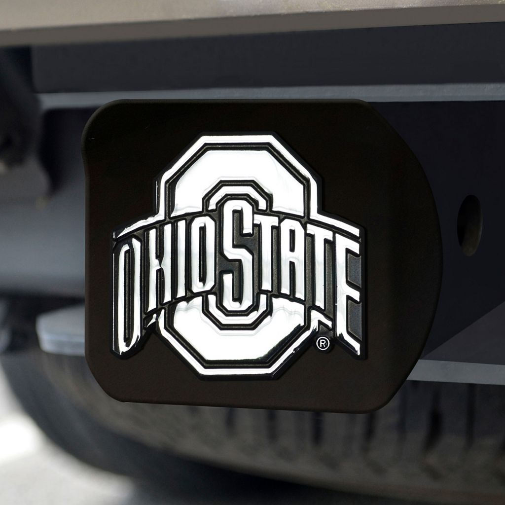 FANMATS Ohio State Buckeyes Black Trailer Hitch Cover