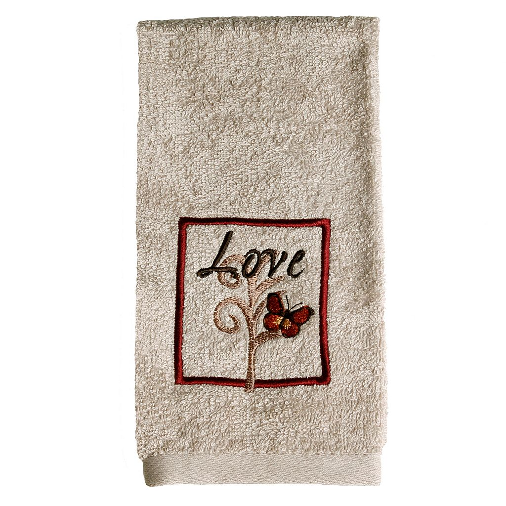 Saturday Knight, Ltd. Grace Embroidered Fingertip Towel
