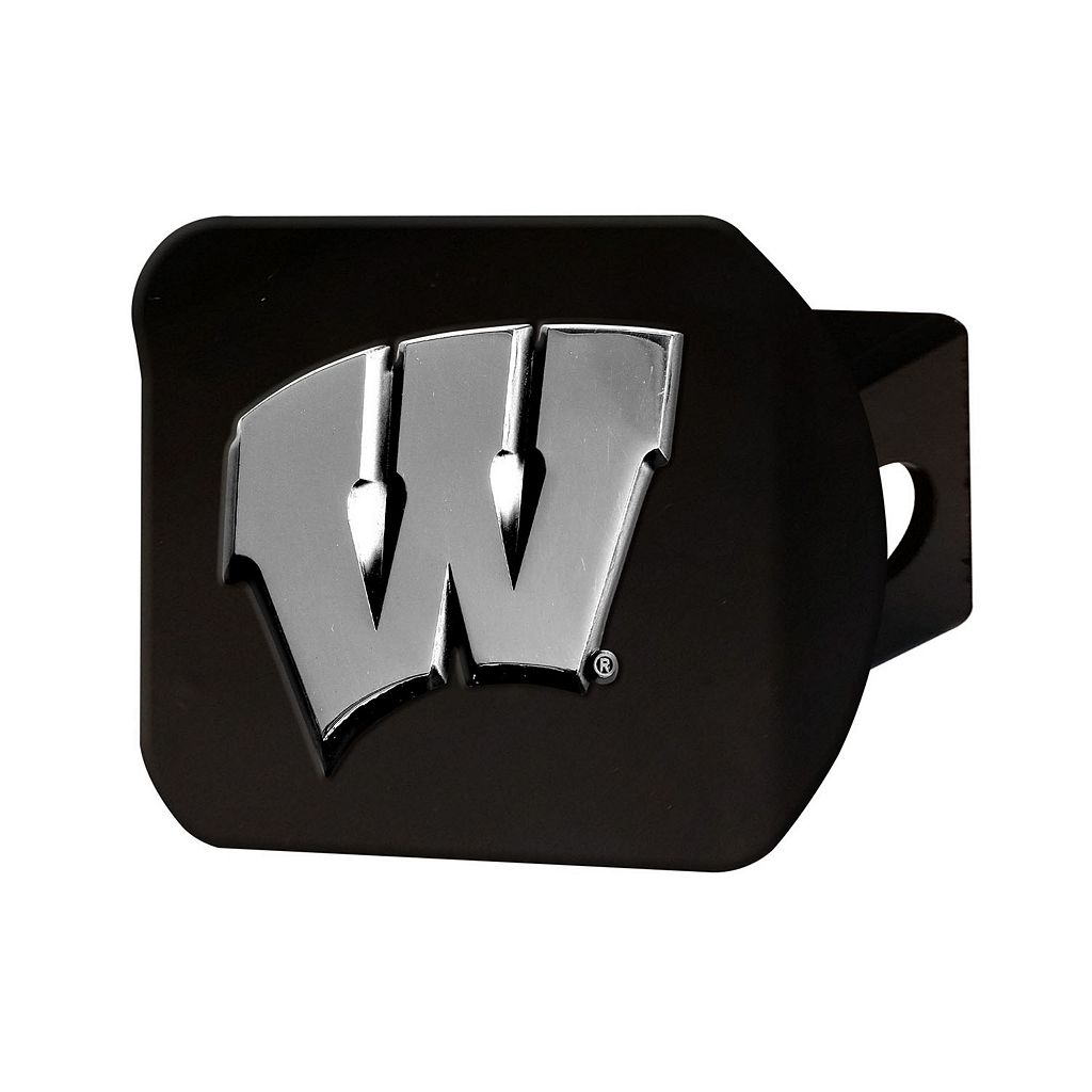 FANMATS Wisconsin Badgers Black Trailer Hitch Cover