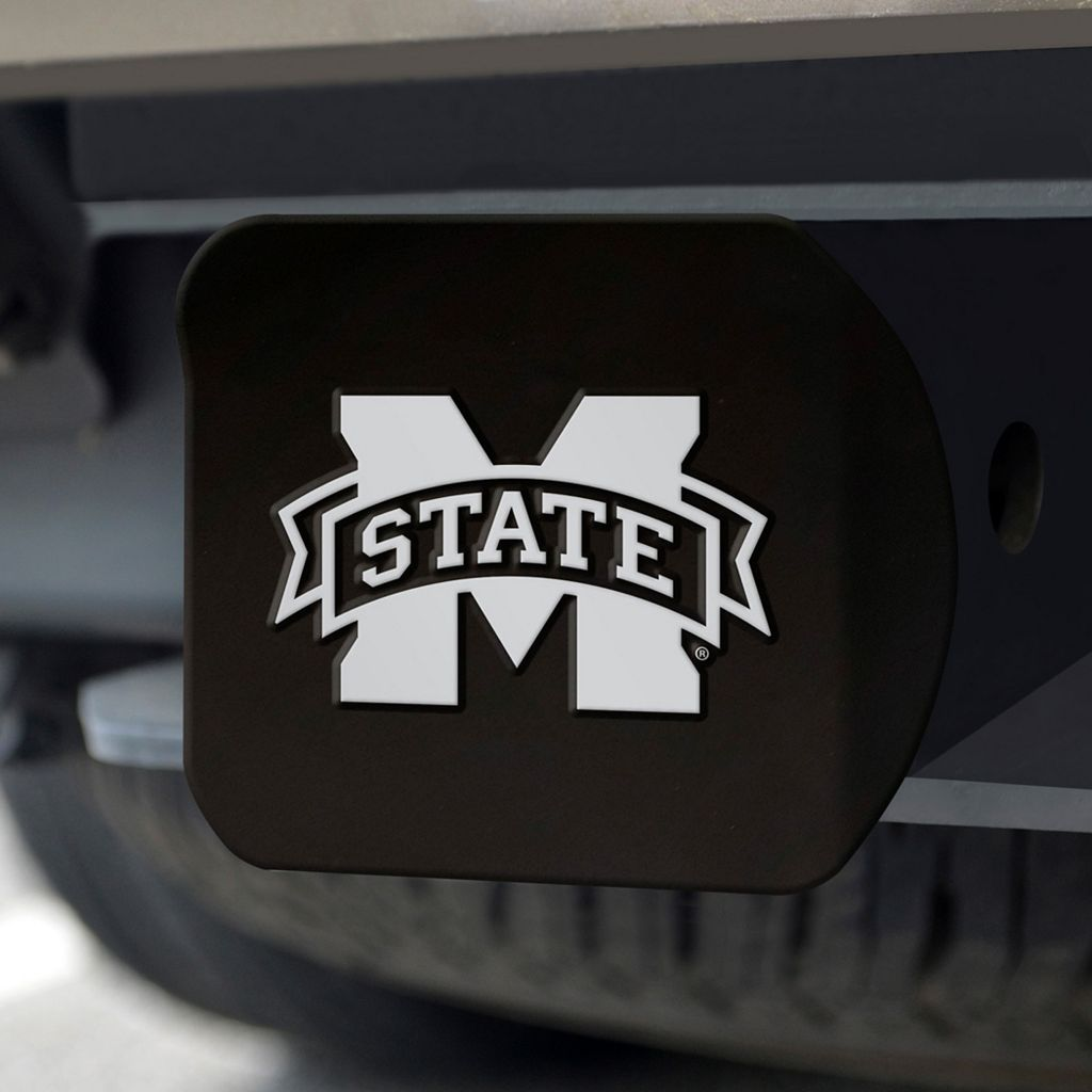 FANMATS Mississippi State Bulldogs Black Trailer Hitch Cover