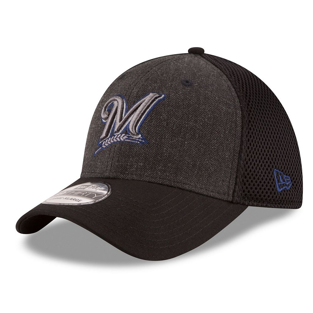 Adult New Era Milwaukee Brewers 39THIRTY Heathered Neo Flex-Fit Cap