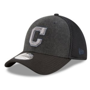 Adult New Era Cleveland Indians 39THIRTY Heathered Neo Flex-Fit Cap