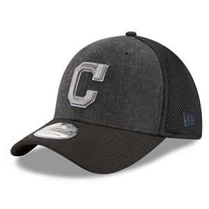 Adult New Era Cleveland Indians 39THIRTY Heathered Neo Flex-Fit Cap