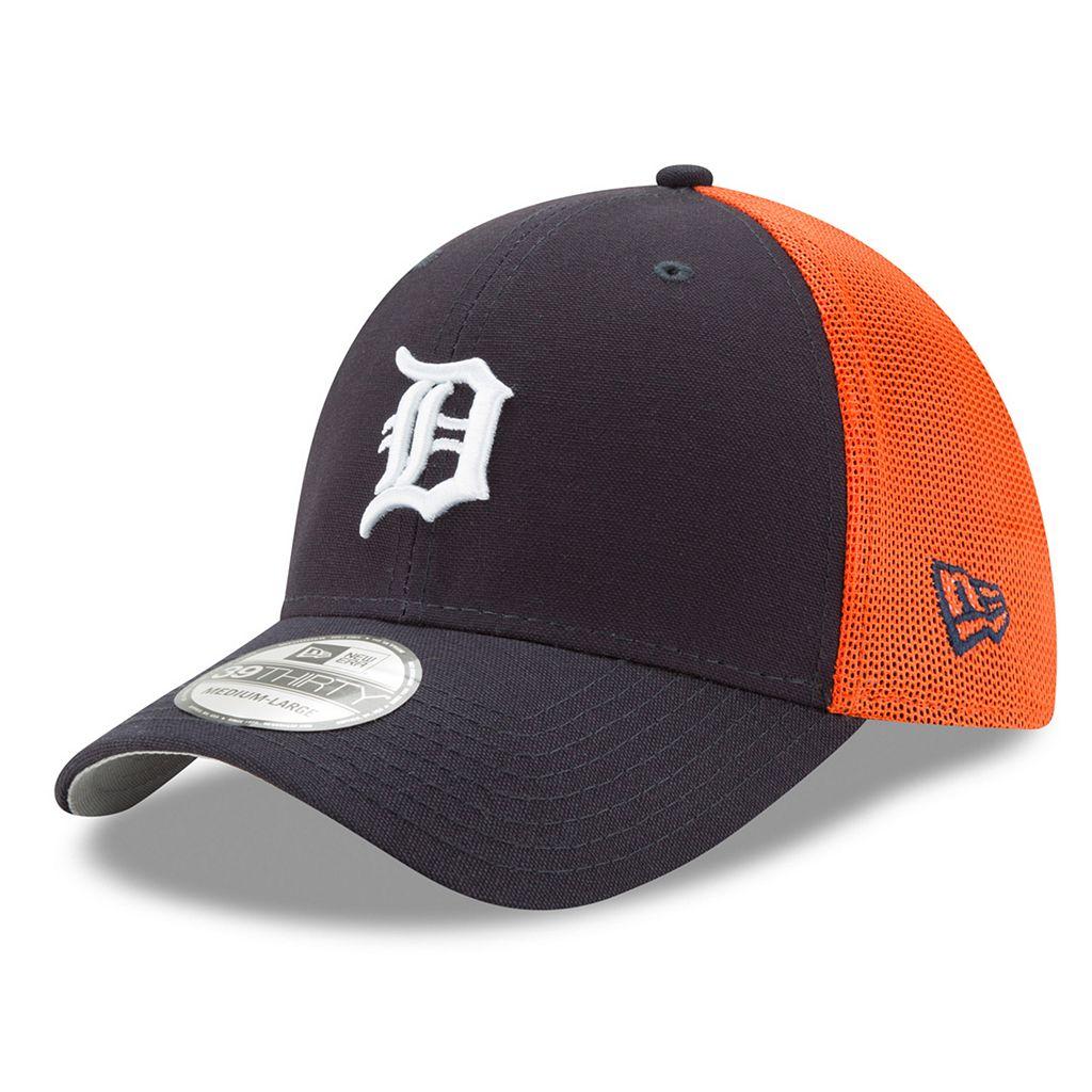 Adult New Era Detroit Tigers 39THIRTY Team Brazen Flex-Fit Cap