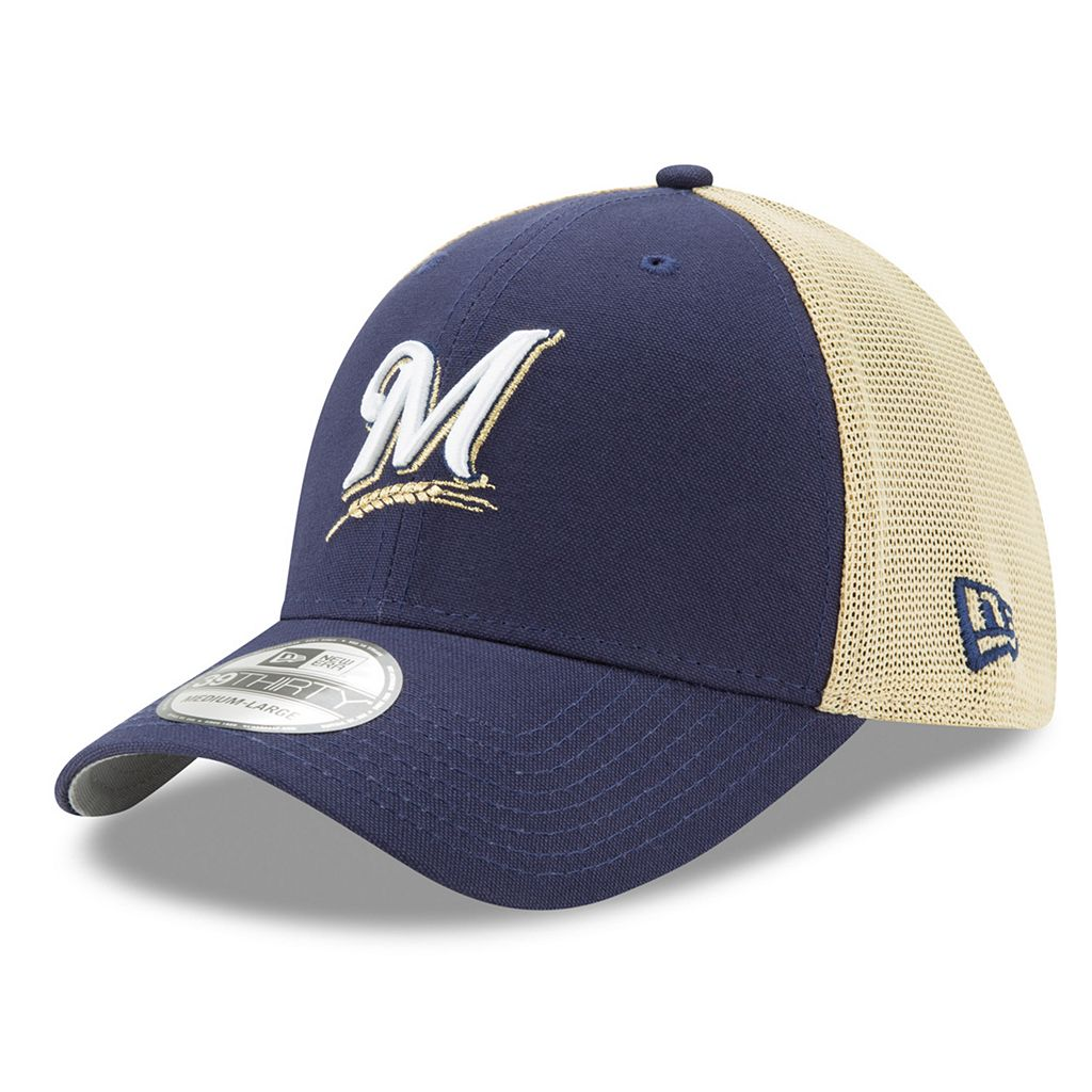 Adult New Era Milwaukee Brewers 39THIRTY Team Brazen Flex-Fit Cap