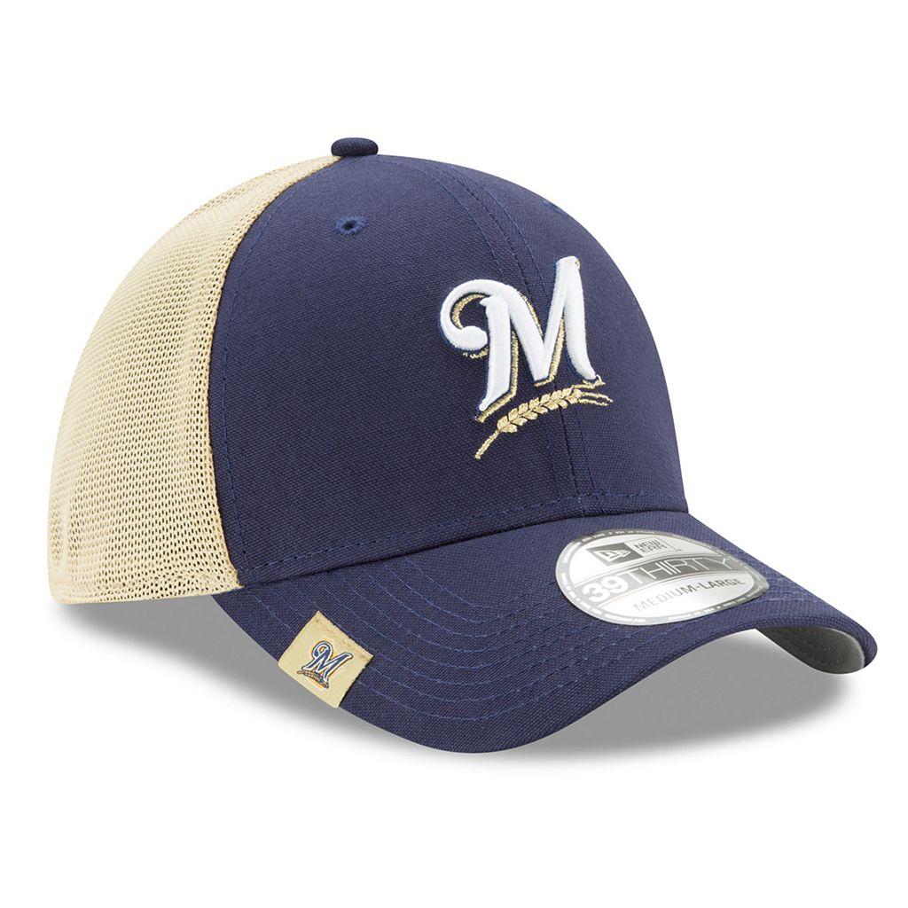 Adult New Era Milwaukee Brewers 39THIRTY Team Brazen Flex-Fit Cap