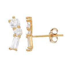 Gold 'N' Ice 10k Gold Cubic Zirconia Constellation Stud Earrings