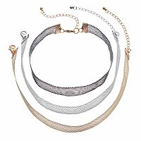 Mesh Choker Necklace Set
