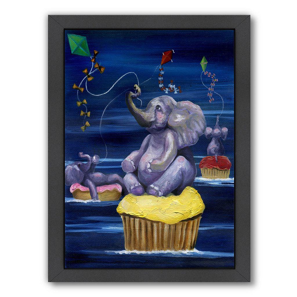 Americanflat When Elephants Fly Framed Wall Art