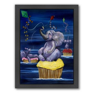 Americanflat When Elephants Fly Framed Wall Art