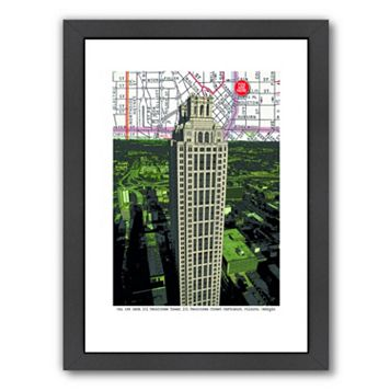 Americanflat Peachtree Tower Framed Wall Art