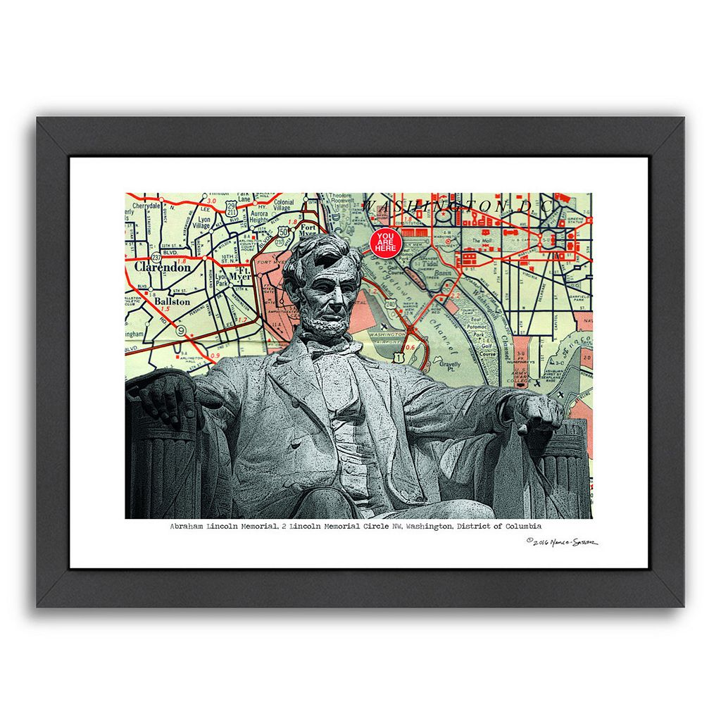Americanflat Abraham Lincoln Memorial Washington DC Framed Wall Art