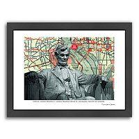 Americanflat Abraham Lincoln Memorial Washington DC Framed Wall Art