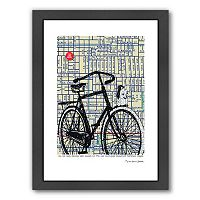 Americanflat Bicycle On Hawthorne Portland Framed Wall Art