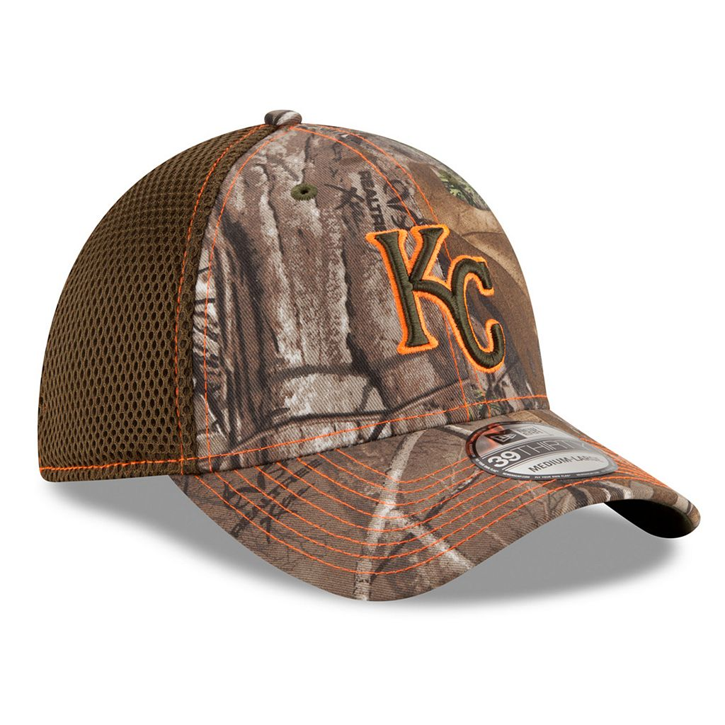Adult New Era Kansas City Royals 39THIRTY Realtree Flex-Fit Cap