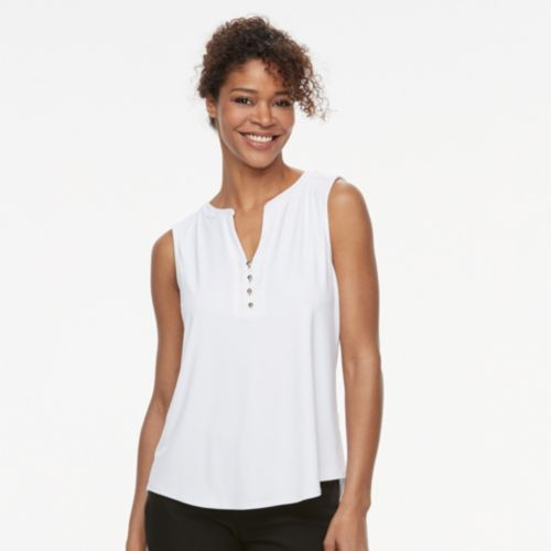 Women's Dana Buchman High-Low Henley