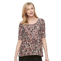 Women's Dana Buchman Printed Perforated Swing Tee