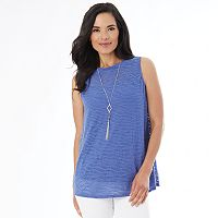 Women's AB Studio Windy Jacquard Necklace Tank
