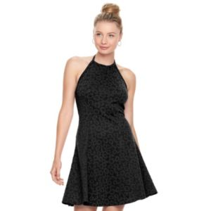 Juniors' SO® Textured Halter Dress