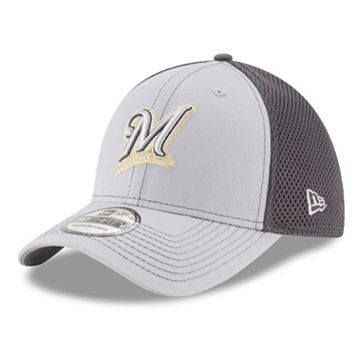 Adult New Era Milwaukee Brewers 39THIRTY Grayed Out Neo 2 Flex-Fit Cap