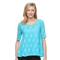 Women's Dana Buchman Open-Work Swing Top