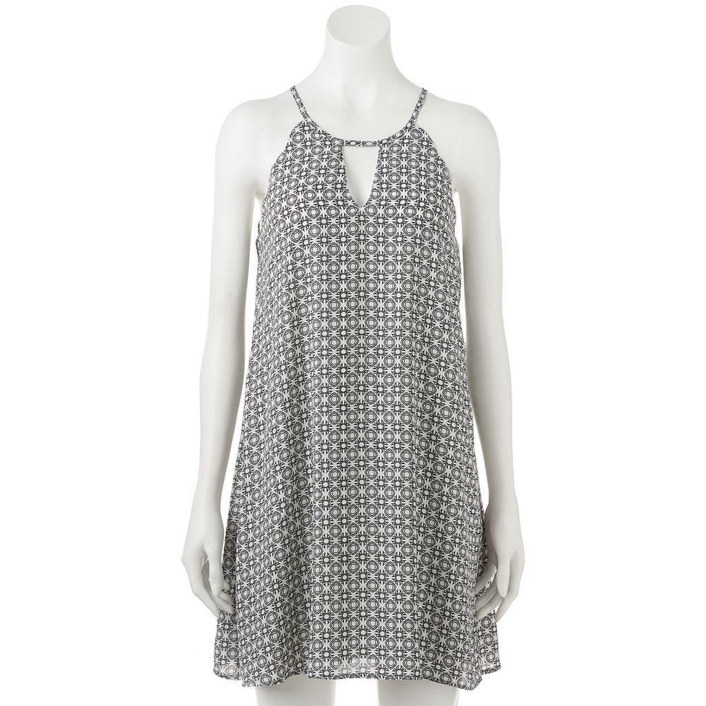 Juniors' Lily Rose Print Halter Shift Dress