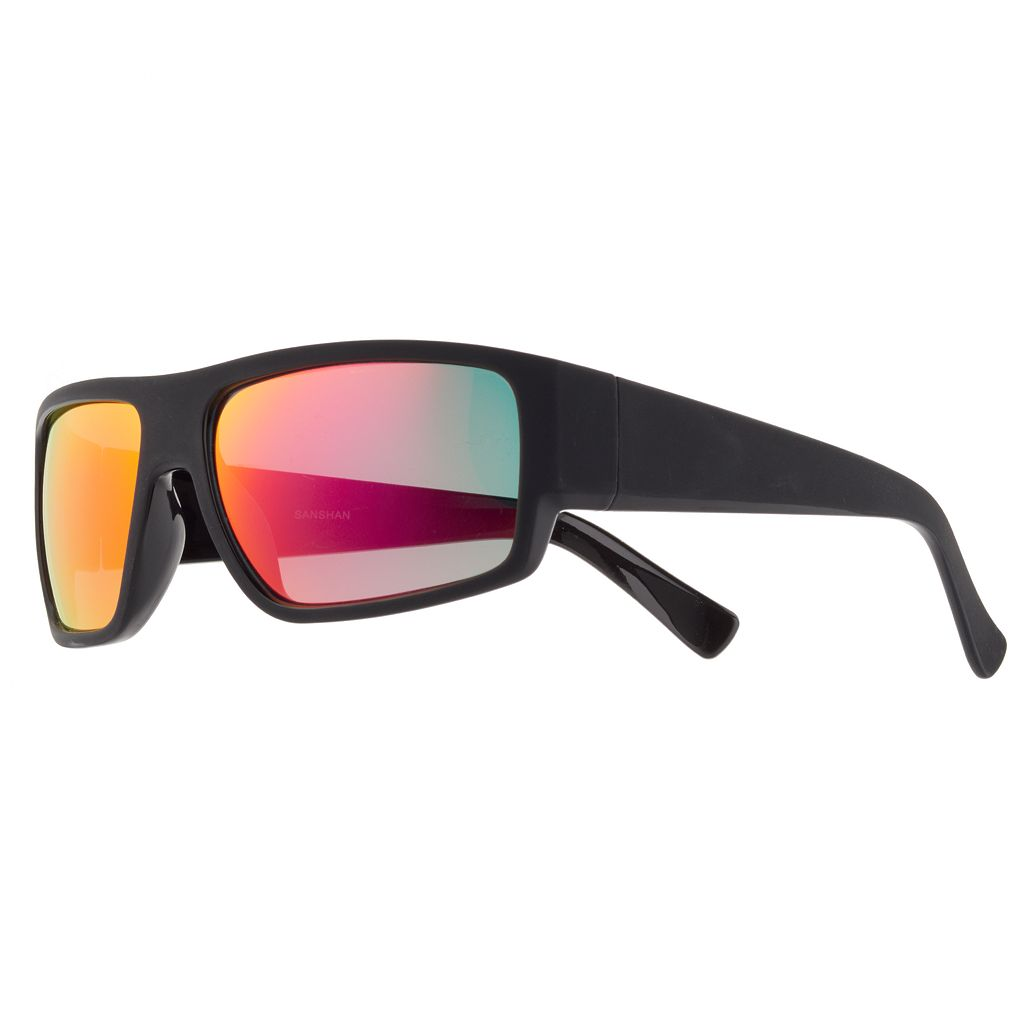 Men's Rubberized Wrap Sunglasses