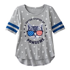 Girls 7-16 & Plus Size SO® Americana Varsity Stripe Graphic Tee