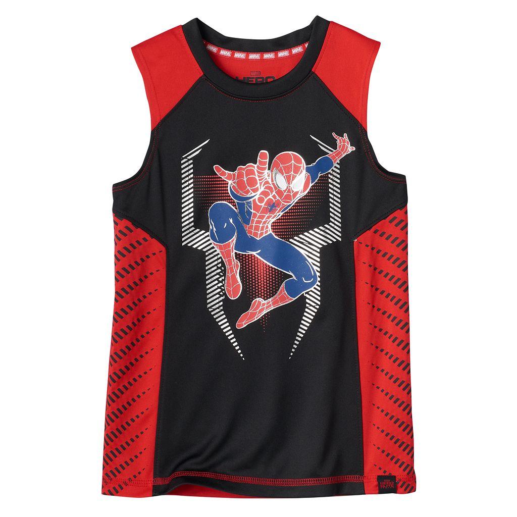 Boys 4-7x Marvel Hero Elite Series Spider-Man Collection for Kohl's Metallic Tank Top