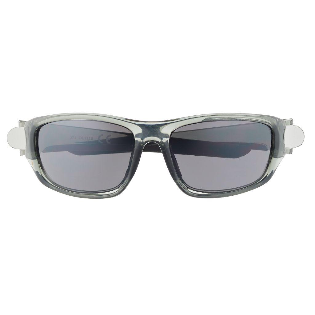 Men's Clear Wrap Sunglasses
