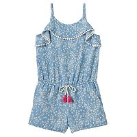 Girls 4-12 SONOMA Goods for Life™ Chambray Ruffle Romper