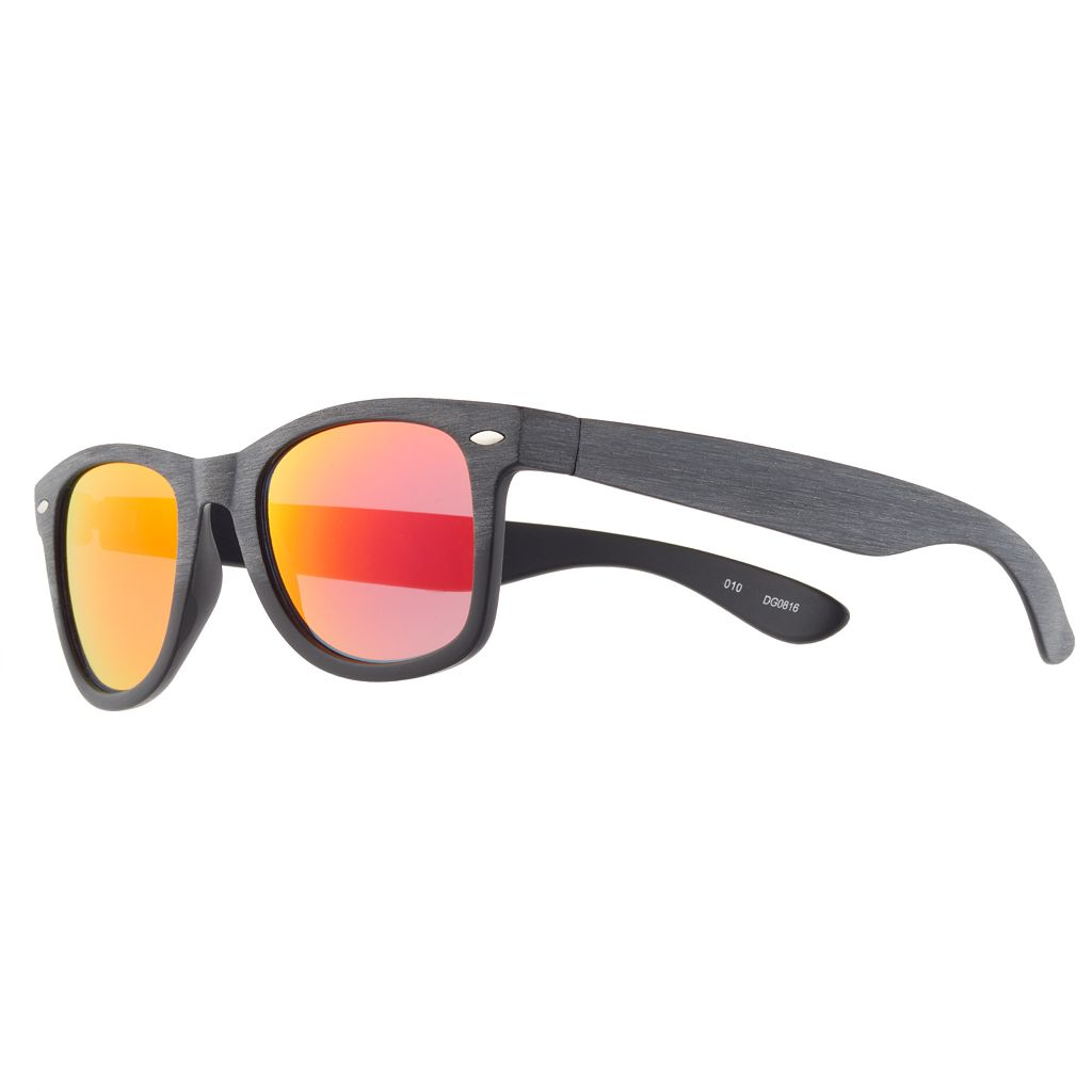 Men's Textured Wood Sunglasses