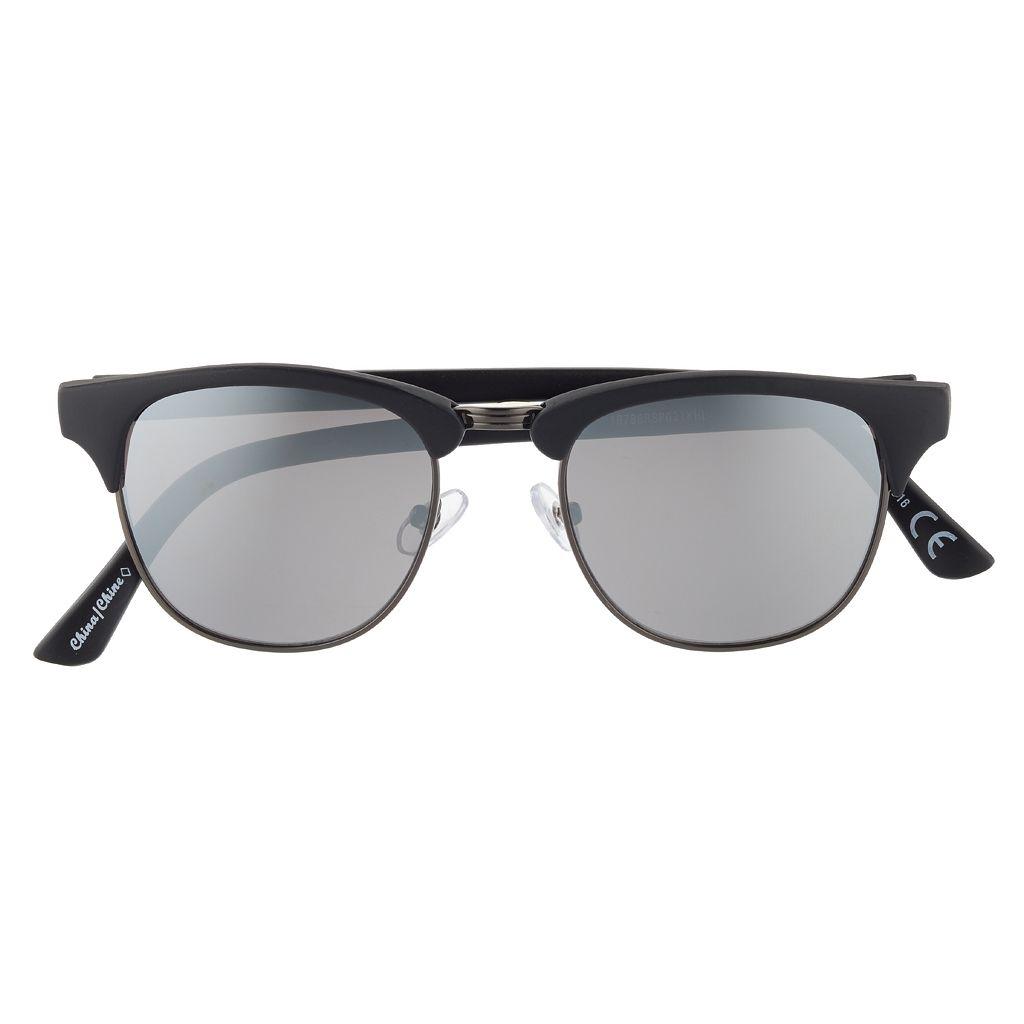 Men's Clubmaster Semirimless Sunglasses