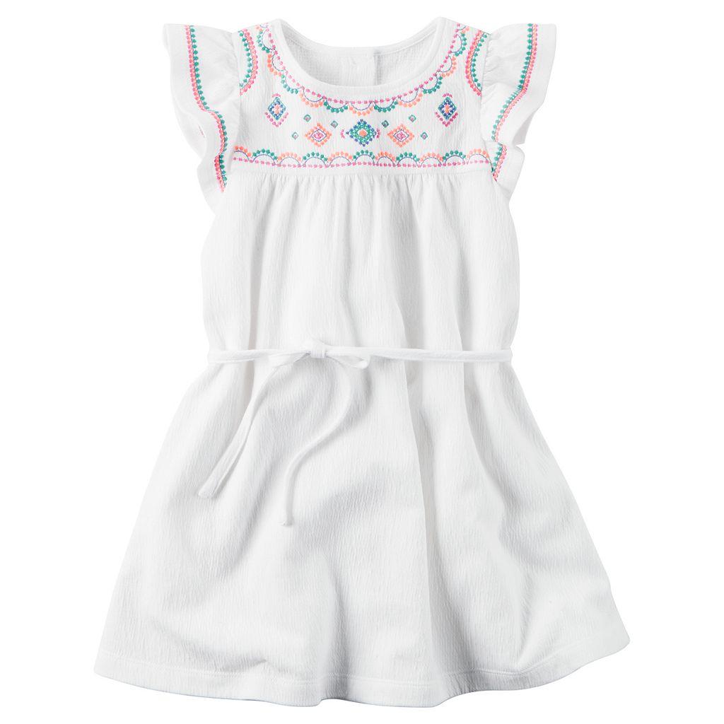 Girls 4-8 Carter's Flutter-Sleeved Dress