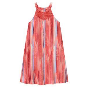 Girls 7-16 & Plus Size Mudd® Crochet High Neck Swing Dress