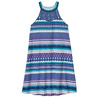 Girls 7-16 & Plus Size Mudd® Crochet High Neck Swing Dress