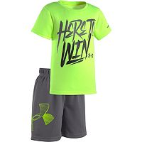Baby Boy Under Armour Graphic Tee & Mesh Shorts Set