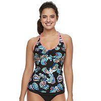 Women's N Coral Reef Paisley Ladderback Tankini Top